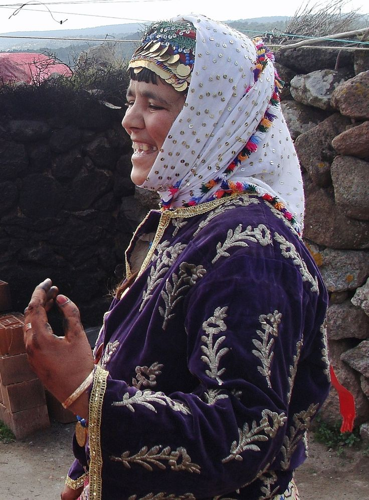 A young Yörük woman in her festive costume, at a wedding in the village of Çamkalabak, near Ayvacık (in the south of the Çanakkale province), April 2012.
