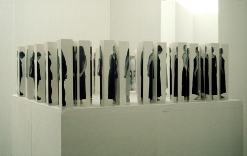 "Jurgita Remeikyte - photography installation, "" Strategies of the sight/for the memory"" 2003"