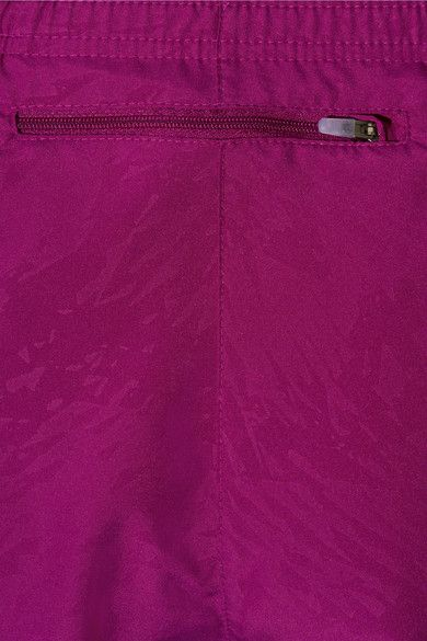 Nike - Dry Tempo Mesh-trimmed Printed Shell Shorts - Plum - x small