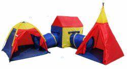 Namiot dziecięcy 4w1 Igloo Wigwam Domek Tunele