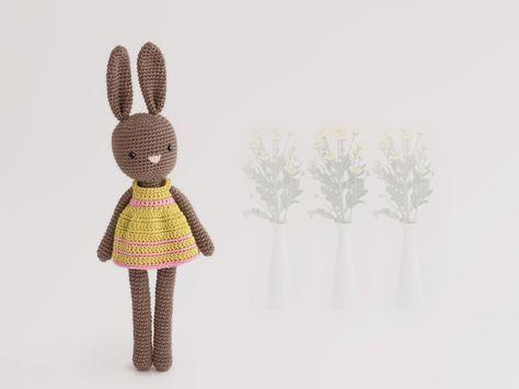 Amigurumi conejita (patron vestido gratis)