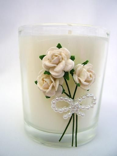 Scented Candle wedding favour by Arran Reflections Design Service