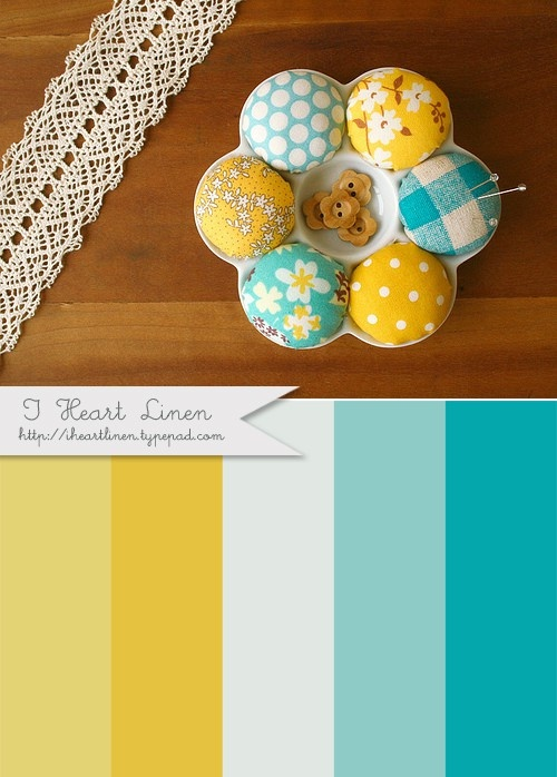 I love this! Turquoise is one of my favorites and the orange yellow always looks awesome in contrast!