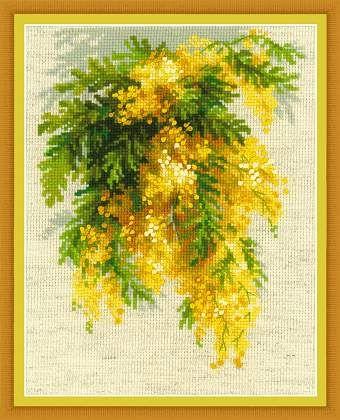 Cross-stitch kit Mimosa  1615 Мимоза