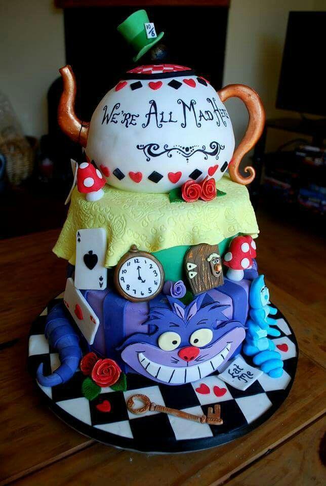 Alice in Wonderland cake 134 best Alice
