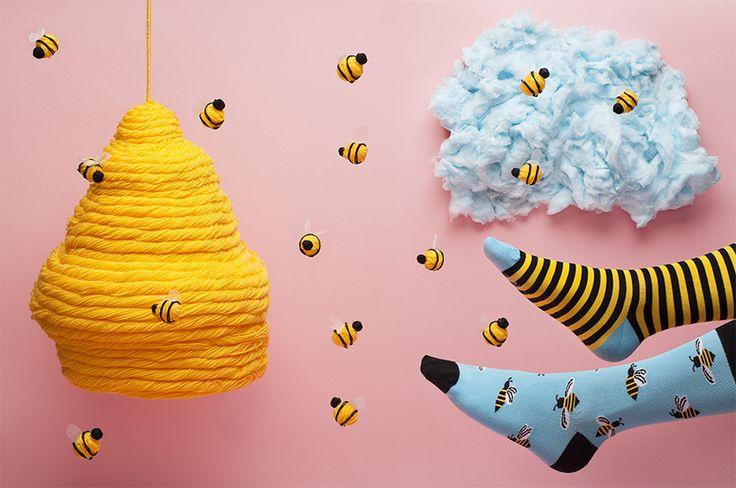 BEE BEE - socks by Many Mornings
