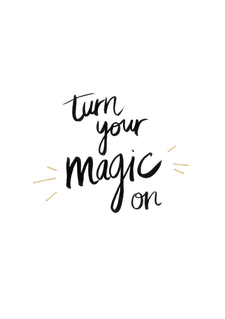 Turn your magic on | Lettering | Marie Thelliez