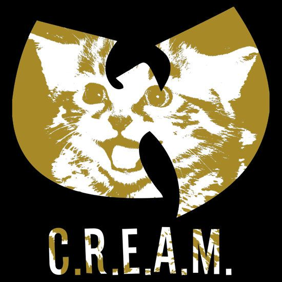 Cats Rule Everything Around Me #cats #wu tang #funny fashion