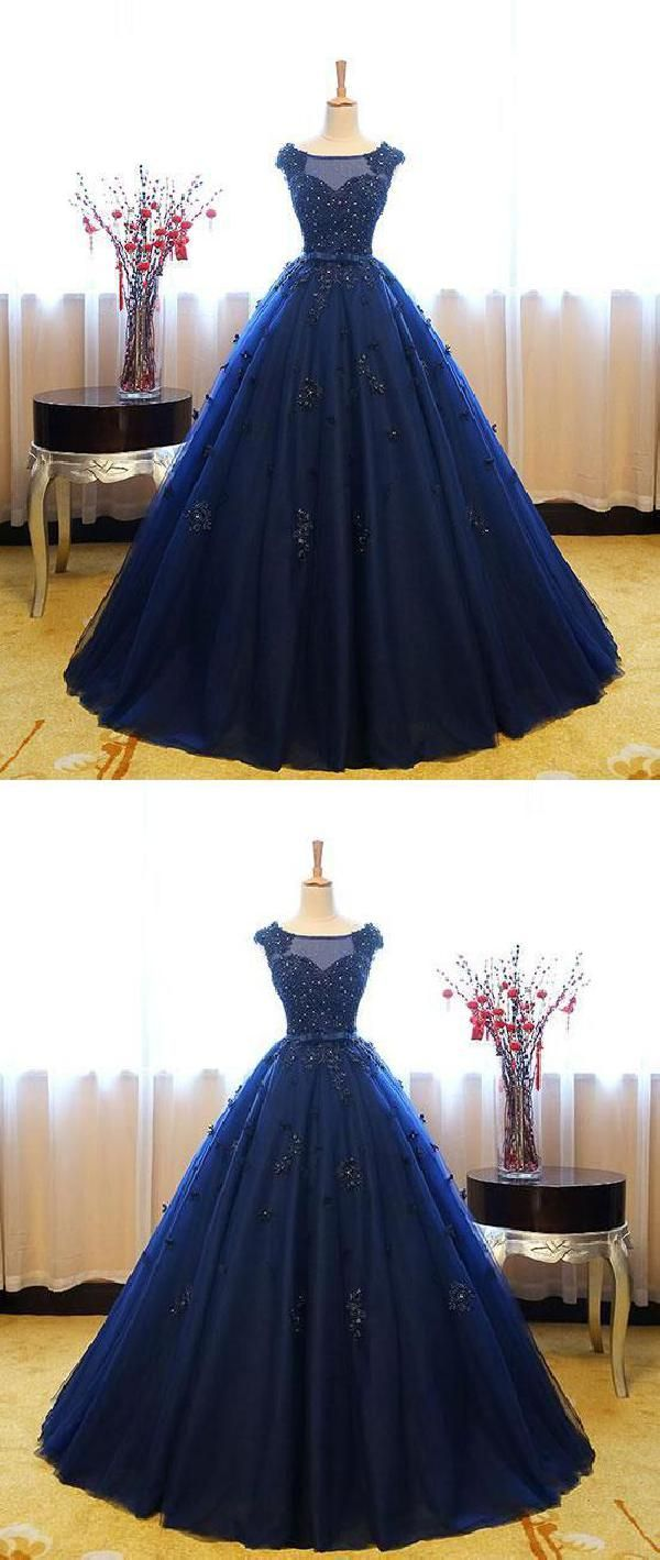 Custom Made Appealing Navy Ball Gown in Outfits Pinterest