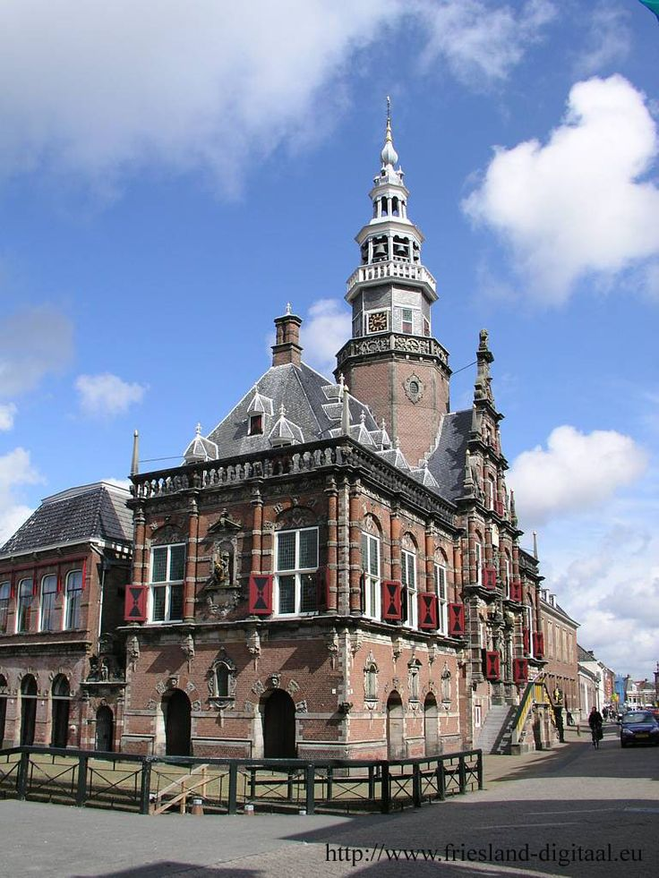 City hall in Bolsward, Friesland, Holland.