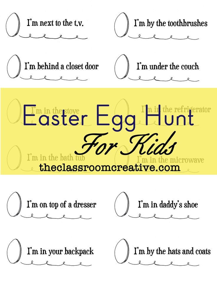 Easter Scavenger Hunt For Kids Easter Pinterest