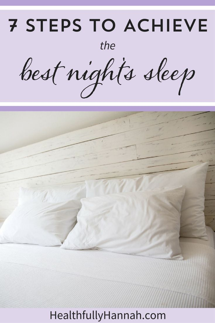 Want to sleep better? These 7 steps will help you achieve the best night's sleep! From essential oils and blue light protection to the hidden dangers of technology, plus how to make your bedroom suitable for sleep, these 7 steps will help you sleep better, naturally. Click through to find out how to improve sleep + fall asleep faster.