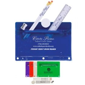 Promotional Products Ideas That Work: Jo-bee translucent deluxe school kit. Get yours at www.luscangroup.com