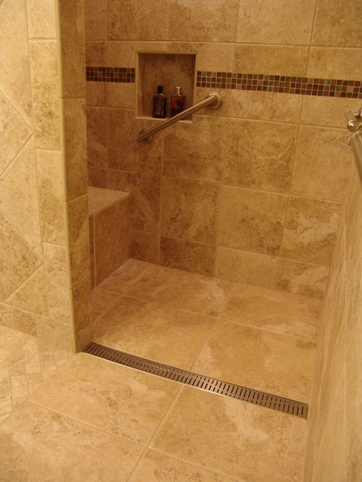 Bathroom Tile Floor Drain : Pics of tile bathroom showers ceramic knoxville