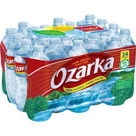 Ozarka 100% Natural Spring Water, 0.5 l, 24 ct  $10.59   2.6¢ / fl oz
