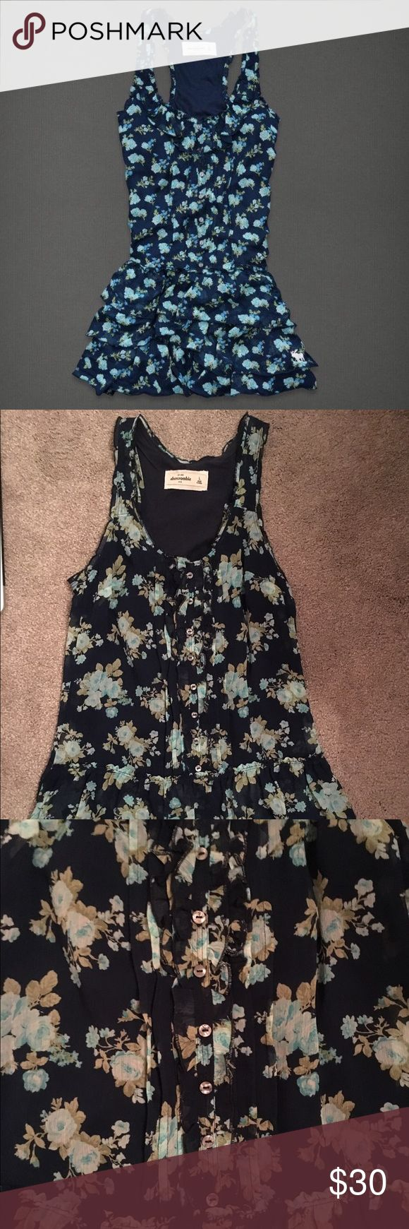 Abercrombie and Fitch dress Abercrombie and Fitch floral button up dress in great condition! Abercrombie & Fitch Dresses
