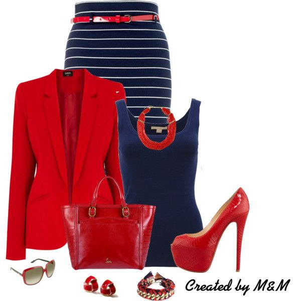 """""""~RED, WHITE BLUE~"""" by marion-fashionista-diva-miller on Polyvore"""