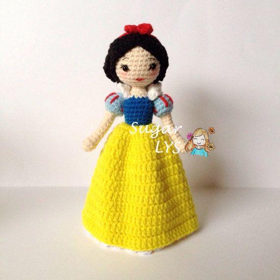 Crochet Amigurumi Snow White - Disney Princess ༺✿ƬⱤღ  https://www.pinterest.com/teretegui/✿༻