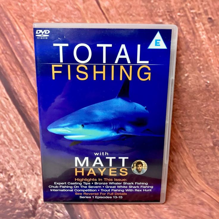 Total fishing DVD with Matt Hayes Series 1 Episodes 13-15 Pike Chub Shark Pike