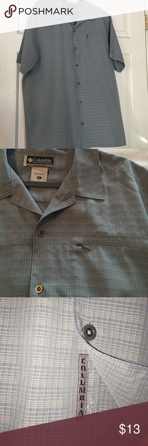 Columbia sportswear Men's buttoned short sleeve Columbia sportswear company size Xl, perfect condition, only worn once, zip pocket left side. Columbia Shirts Polos