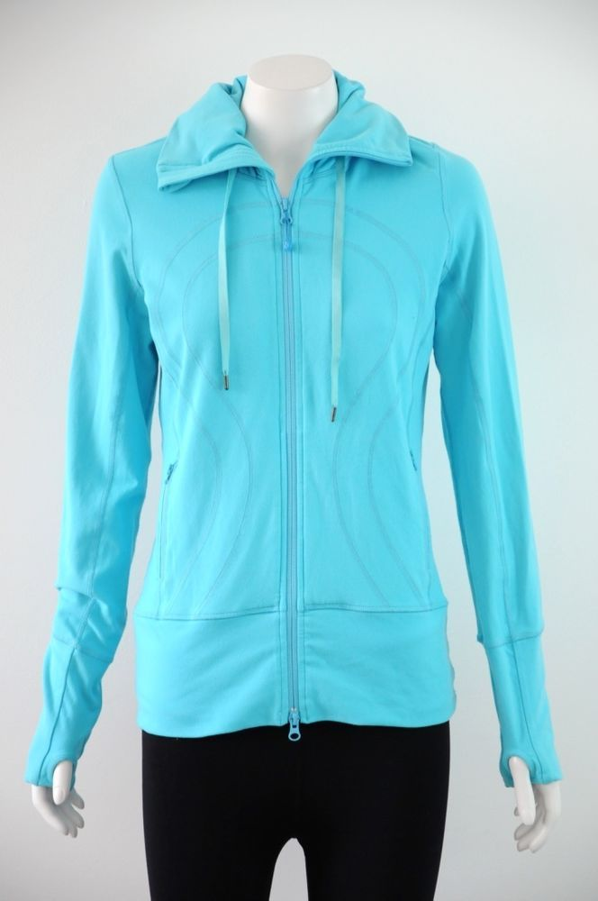 Lululemon Athletica  Women s Blue Zip Up Sports Hooded Jacket {Size 6 / AU 10}