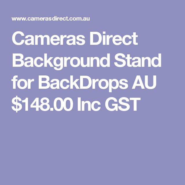 Cameras Direct Background Stand for BackDrops  AU $148.00 Inc GST