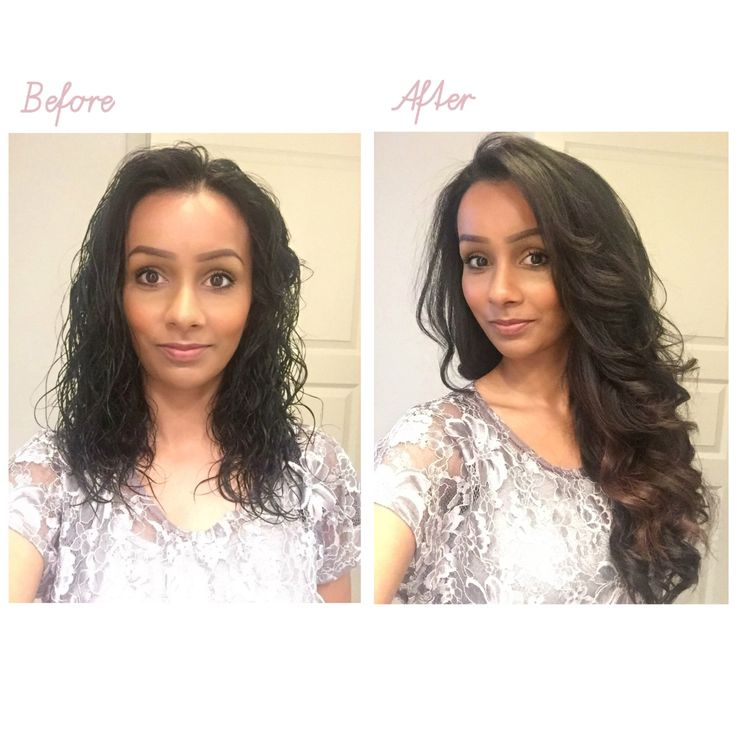 Before and after hair styling, using beautiful hair extensions from Luxy Hair.