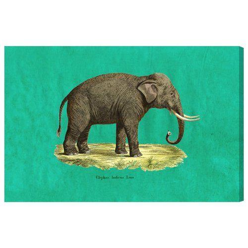Found it at Wayfair.co.uk - 'Elephant I' Art Print Wrapped on Canvas
