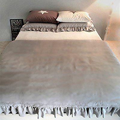 Amazon|アンティーク風掛け布団カバー グレー無地 枕カバー(シングル)|寝具カバーセット オンライン通販