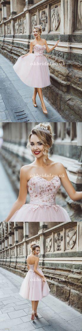 Sweet Heart Homecoming Dress, Tulle Homecoming Dress, Applique Junior School Dress, Backless Homecoming Dress, LB0961