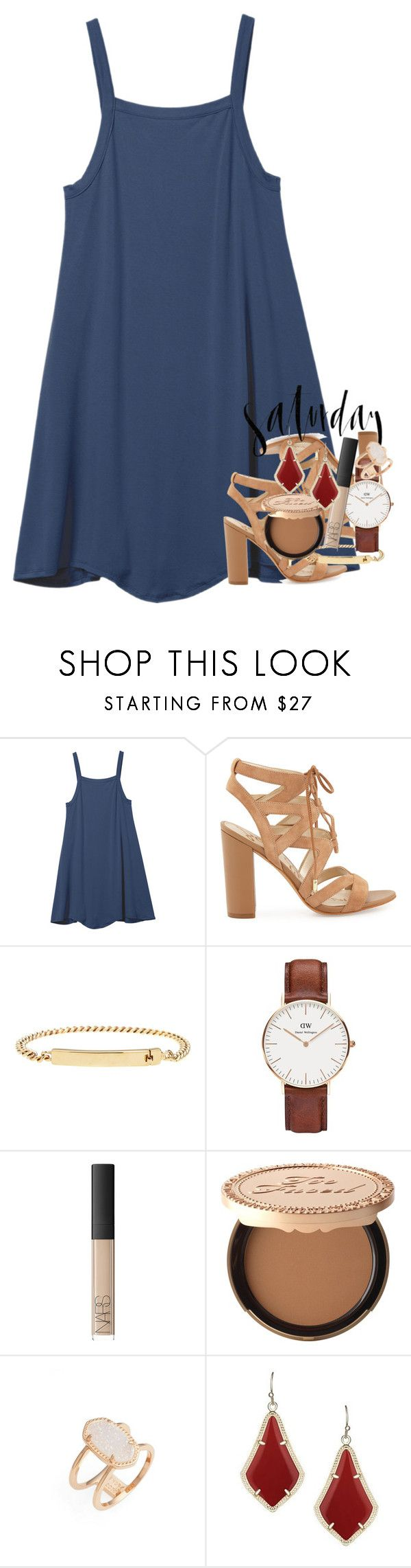 """""""it's a party in the usa!!"""" by classynsouthern ❤ liked on Polyvore featuring RVCA, Sam Edelman, A.P.C., Daniel Wellington, NARS Cosmetics, Too Faced Cosmetics, Rawlings, Kendra Scott and katies4thcontestofficial"""