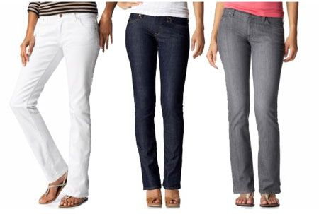 I bought my first pair of size 12 skinny jeans today!  Old Navy Sweetheart Jeans in long.