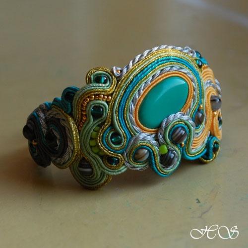 Przepiękna bransoletka! Ciekawe ile czasu zajęło jej wykonanie #Soutache #DIY #jewellery