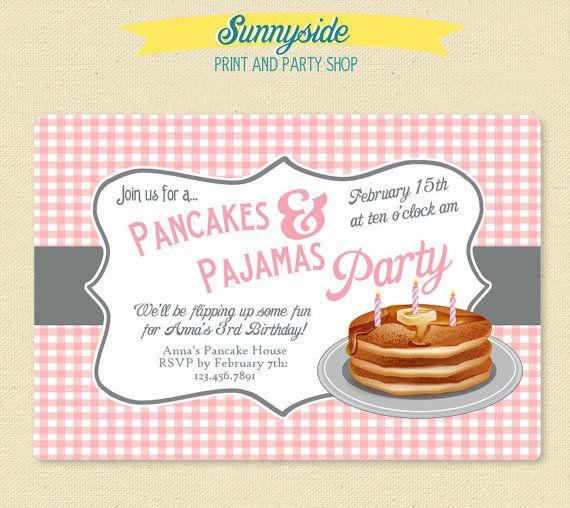 Pancakes And Pajamas Invitation Template Pancakes And Pajamas