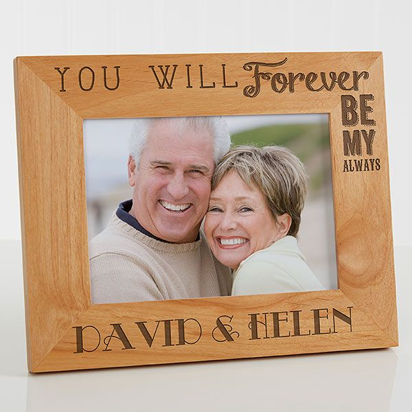 Personalized Wood Picture Frame 5x7 Love Quotes Wood Picture