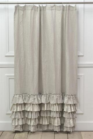 Do this to dress up the drop cloth curtains we have. The fabric looks just like that. Just need to buy an extra drop cloth and sew like crazy.