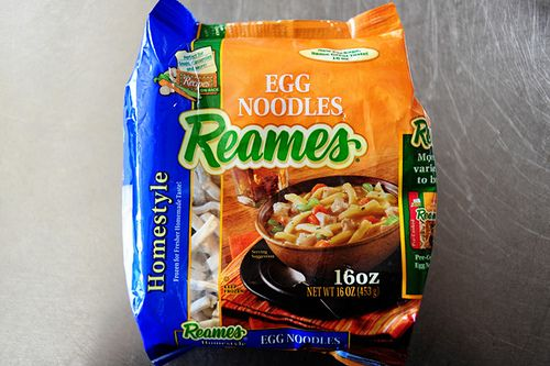 if you haven't ever used Reames frozen egg noodles, you're missing out on one of the best storebought, prepackaged foods there is.