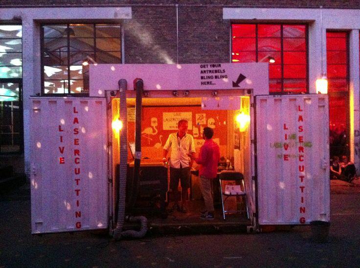 Pop up laser workshop @trailerparkfestival 2013