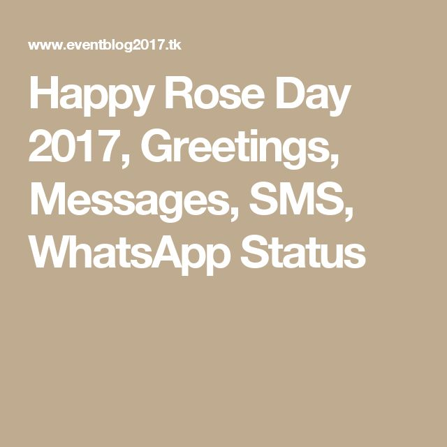 Happy Rose Day 2017, Greetings, Messages, SMS, WhatsApp Status
