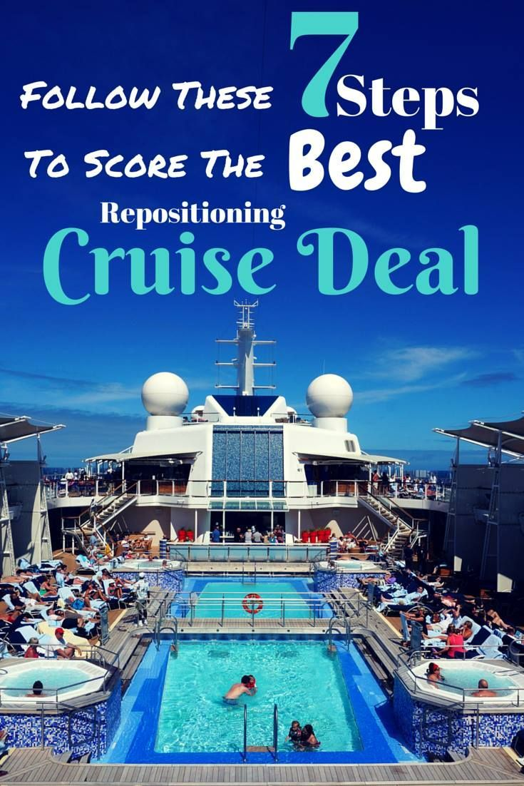 How to get the best and cheapest repositioning cruise deal (or any cruise deal really)