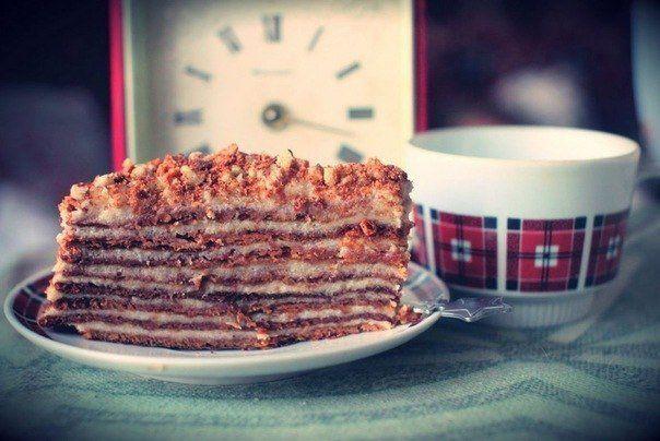 Торт «Рыжик» с заварным кремом