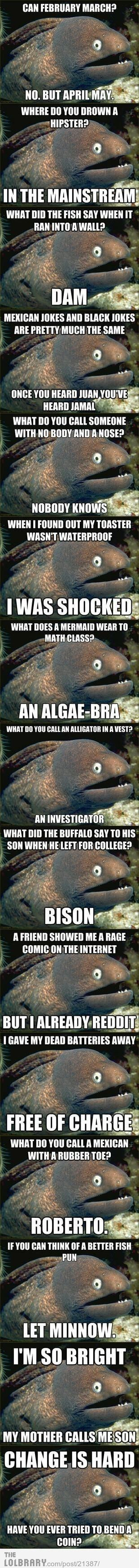 Bad Joke Eel...silly eel!! ( still with it was Marlin from Nemo)