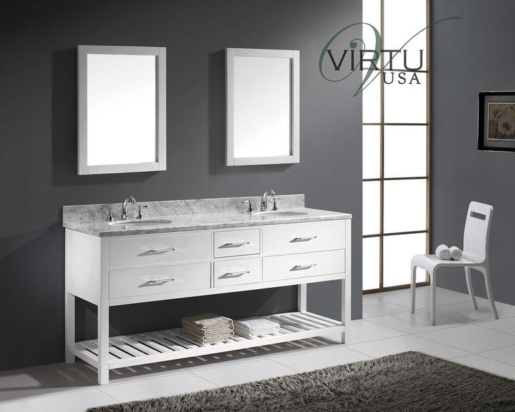 Photographic Gallery Virtu USA Caroline Estate inch Bathroom Vanity White Finish http