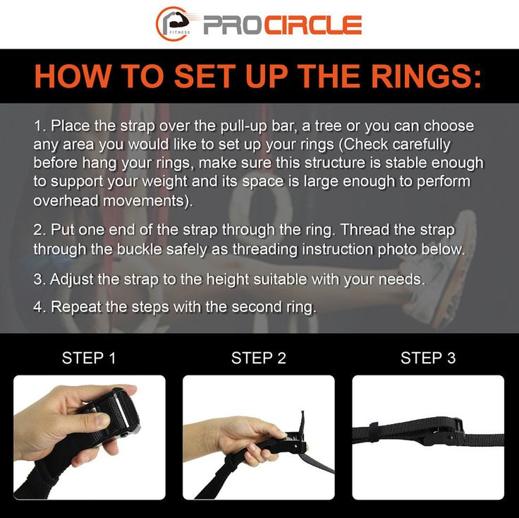 How to set up gym rings?
