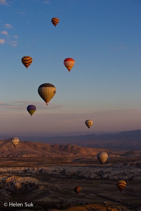 The spectacular view from a hot air balloon in Cappadocia, Turkey. Click to learn more about my experience.