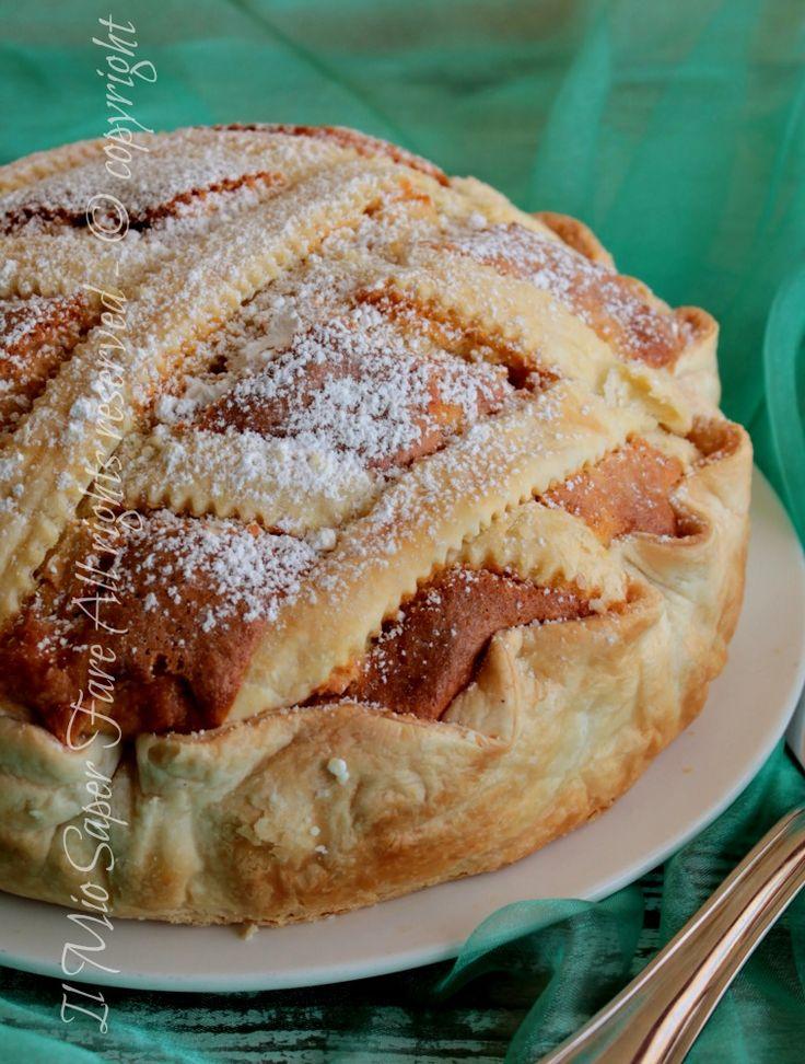 Torta sfogliata alle mele soffice e friabile ricetta il mio saper fare