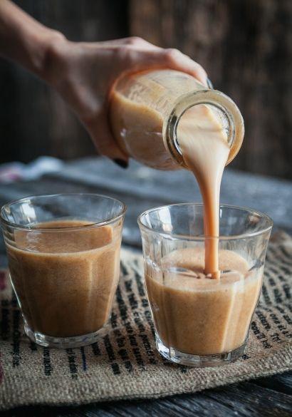 #Smoothie à la citrouille. Le #verre pour conserver la fraîcheur et la saveur ;)