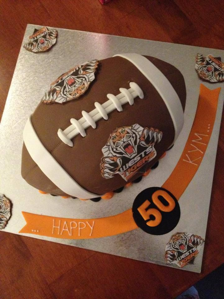 NRL Tigers cake. 50th Birthday.