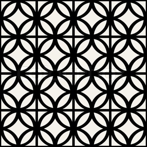 Stock vector of 'Abstract, geometric background, modern seamless pattern, wrapping paper, 60s, 70s fashion style, black and white trendy fabric, simple ornaments, template, layout, sketch, tissue samples for design'