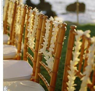 Leis on the Chairs